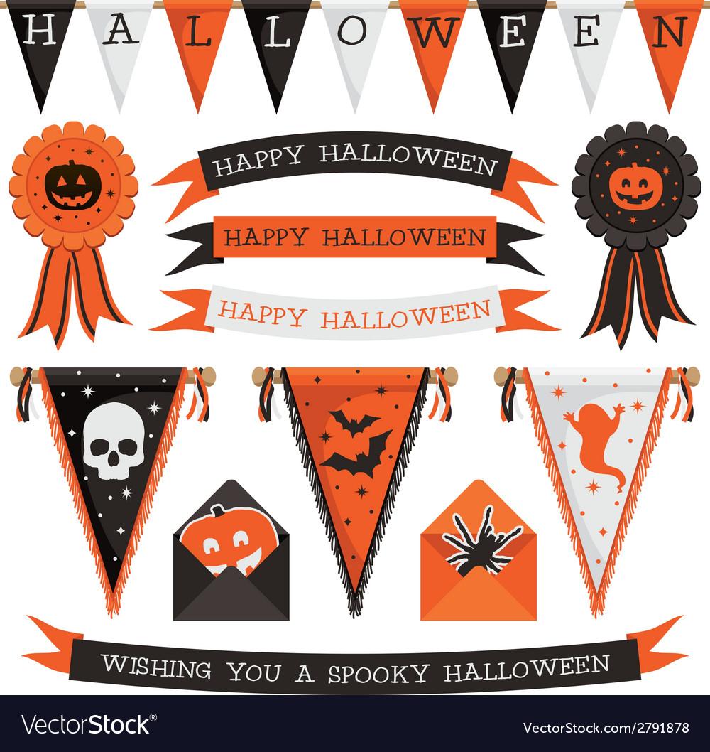 Halloween decorations vector | Price: 1 Credit (USD $1)