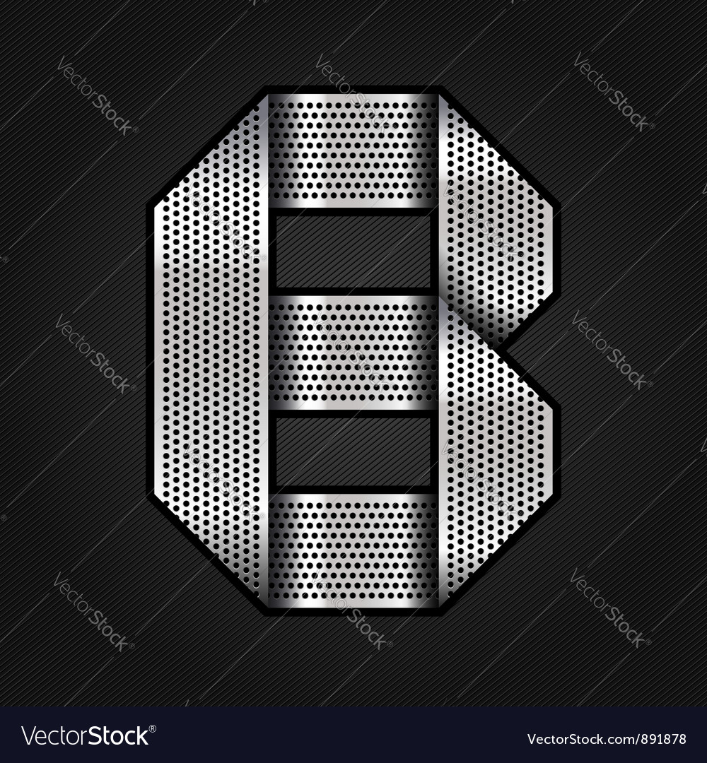 Letter metal chrome ribbon - b vector | Price: 1 Credit (USD $1)