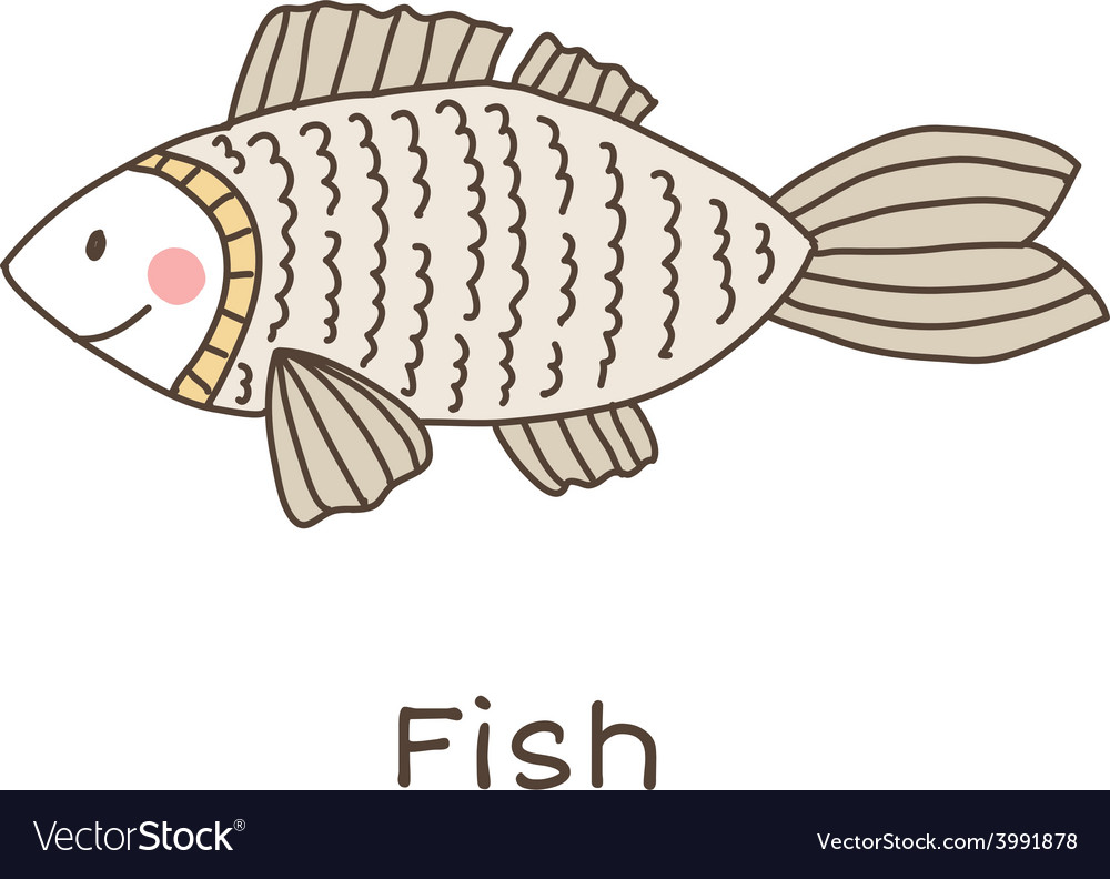 Lineart fish vector | Price: 1 Credit (USD $1)