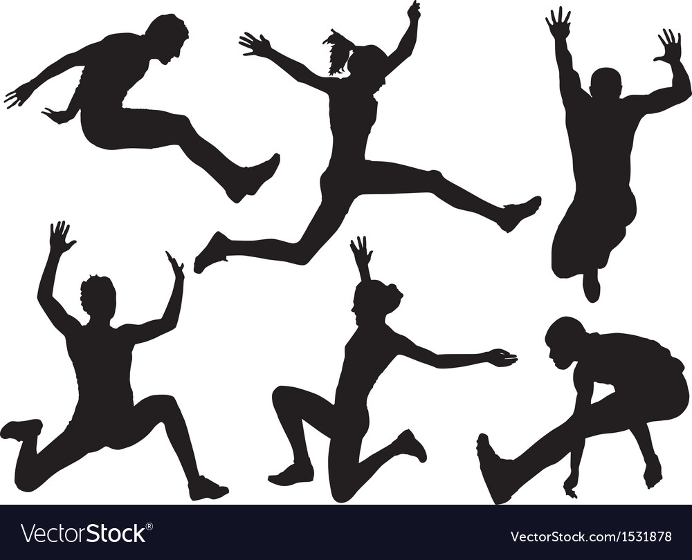 Long jump silhouette vector | Price: 1 Credit (USD $1)