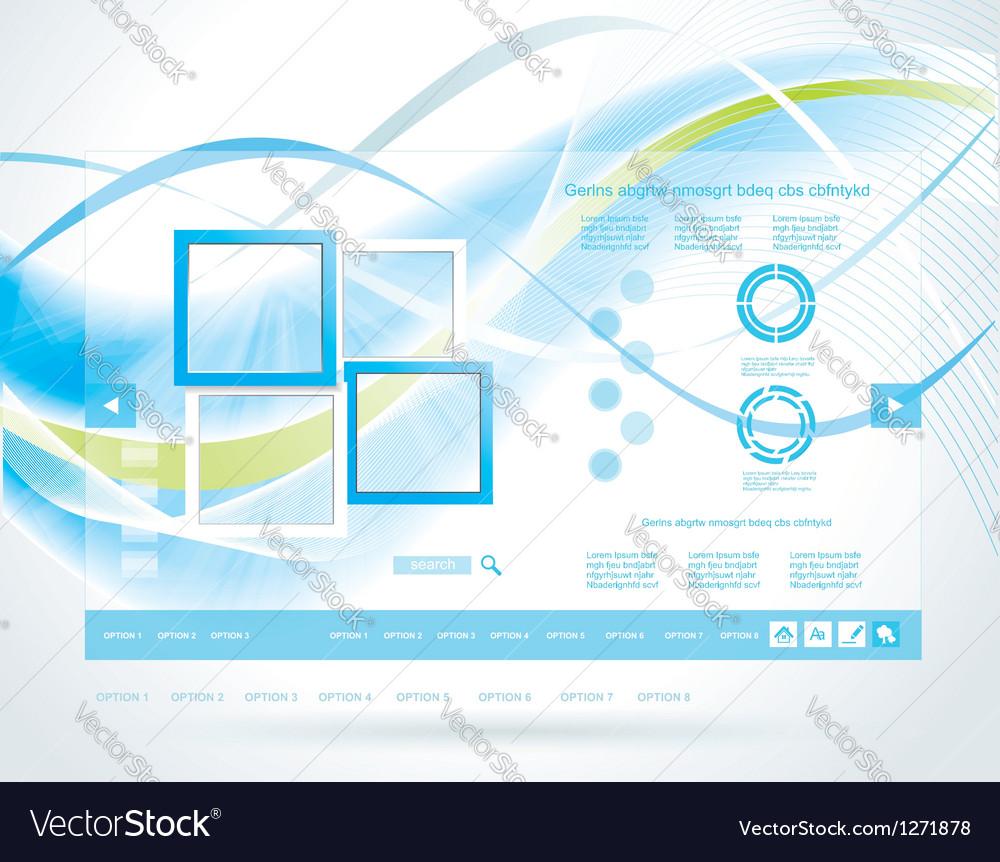 Modern blue website template vector   Price: 1 Credit (USD $1)