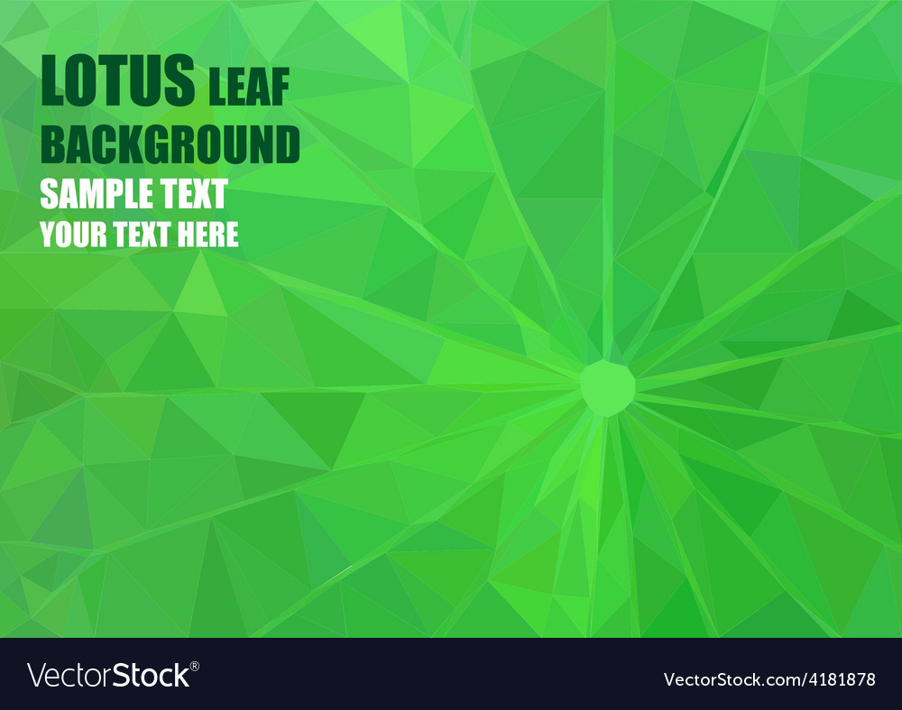 Origami lotus leaf vector | Price: 1 Credit (USD $1)