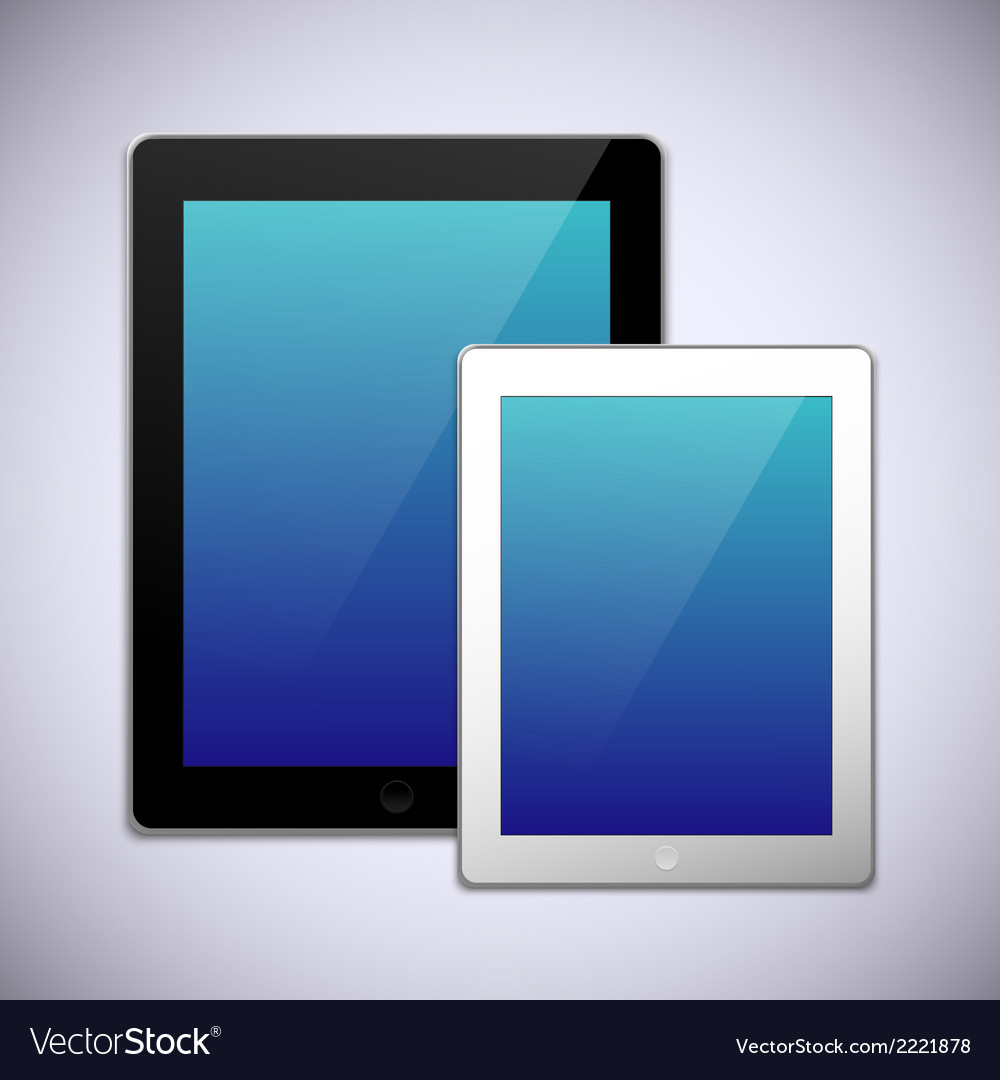 Realistic tablet pc computer template vector | Price: 1 Credit (USD $1)