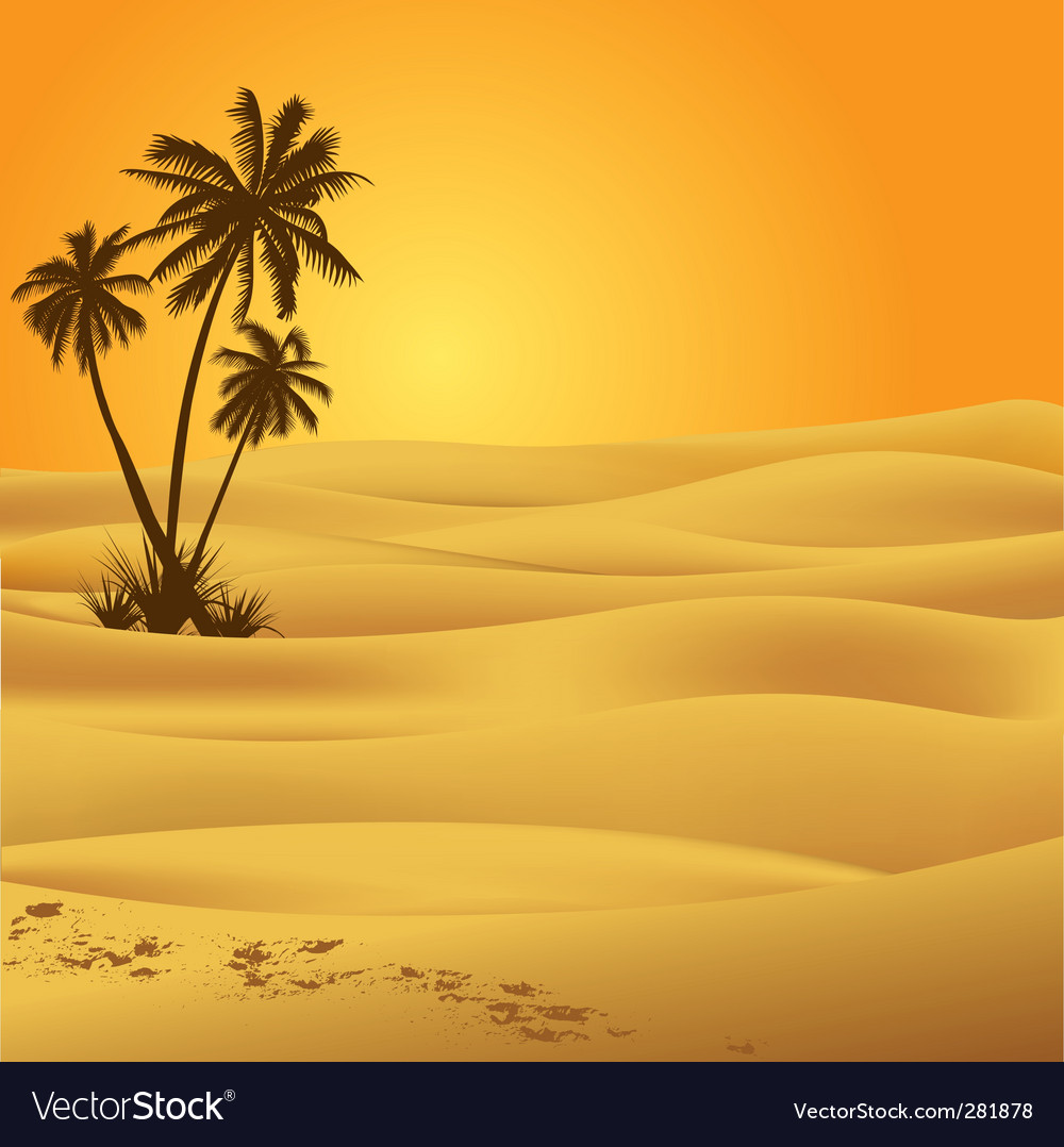 Sahara desert vector | Price: 1 Credit (USD $1)