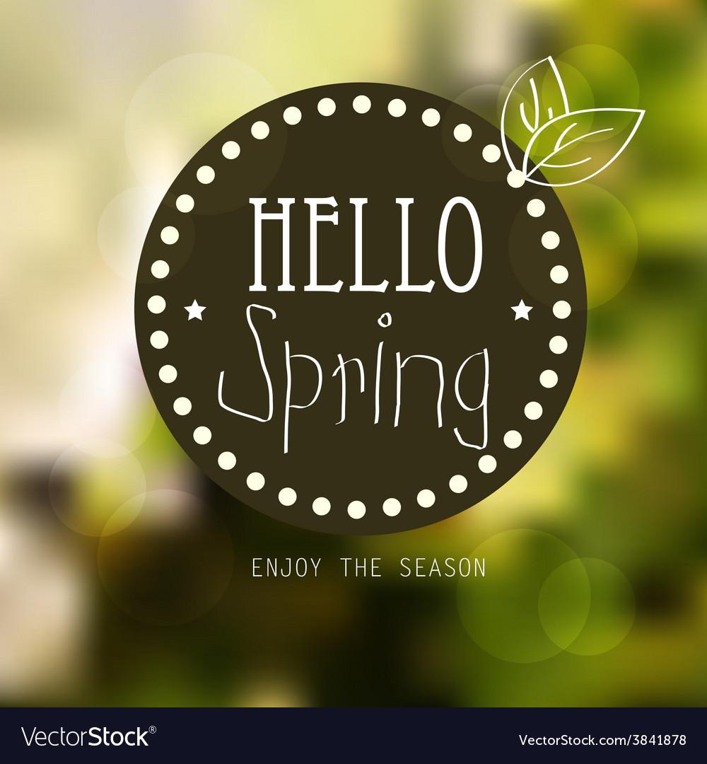 Spring landscape background vector | Price: 1 Credit (USD $1)