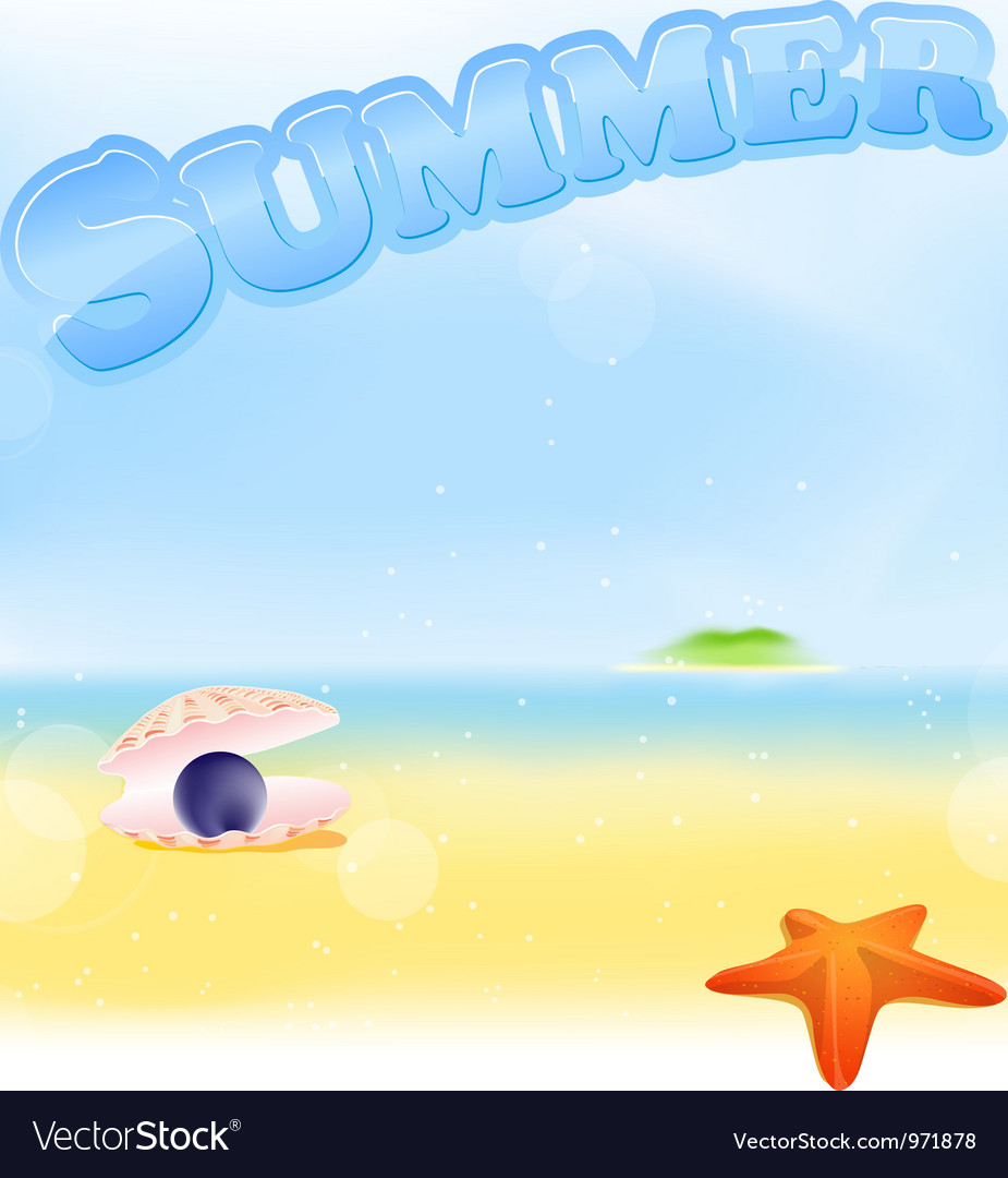 Summer black pearl vector | Price: 1 Credit (USD $1)