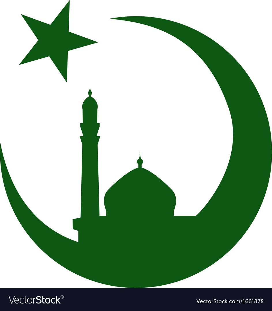Symbol of islam and mosque ramadan vector | Price: 1 Credit (USD $1)