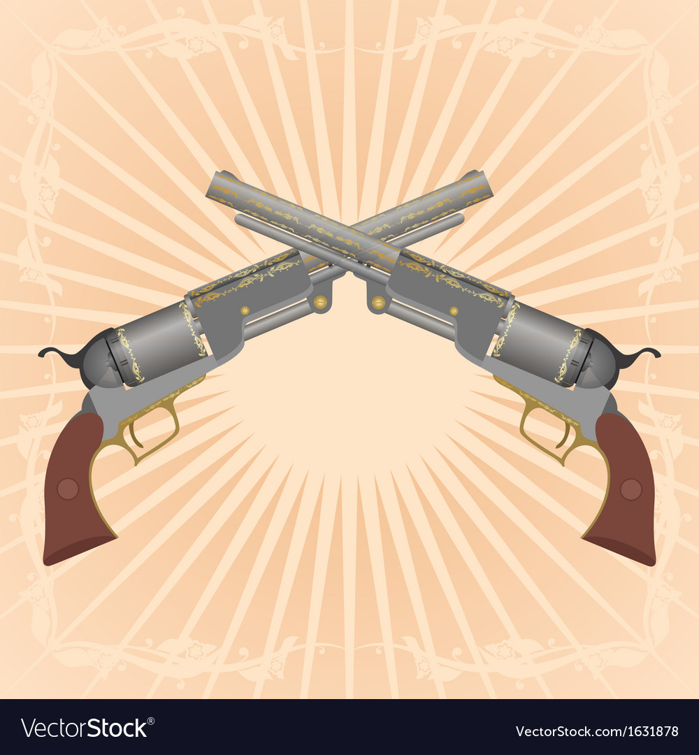 Two revolvers vector   Price: 1 Credit (USD $1)