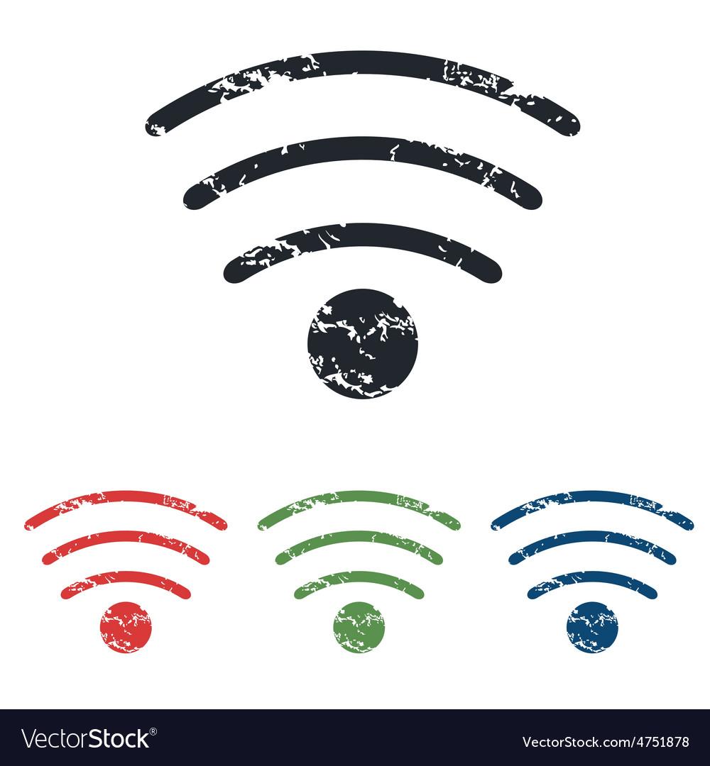 Wi-fi grunge icon set vector   Price: 1 Credit (USD $1)
