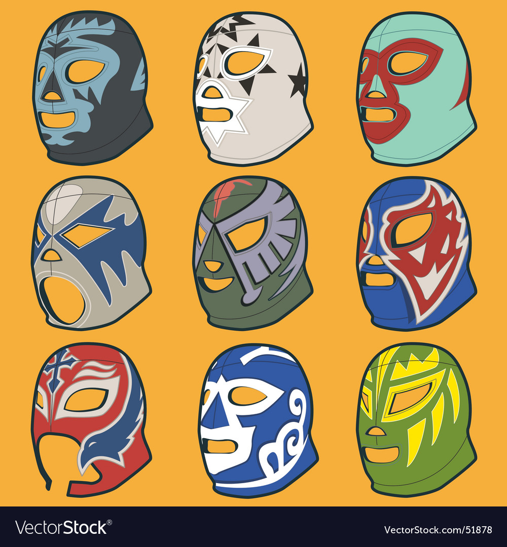 Wrestling masks vector | Price: 1 Credit (USD $1)