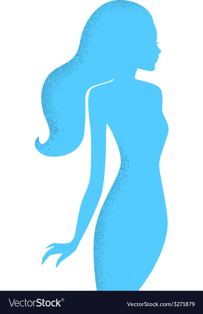 Beautiful womans silhouette image vector | Price: 1 Credit (USD $1)