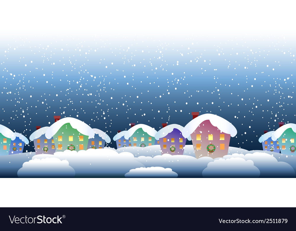 Christmas village pattern vector | Price: 1 Credit (USD $1)