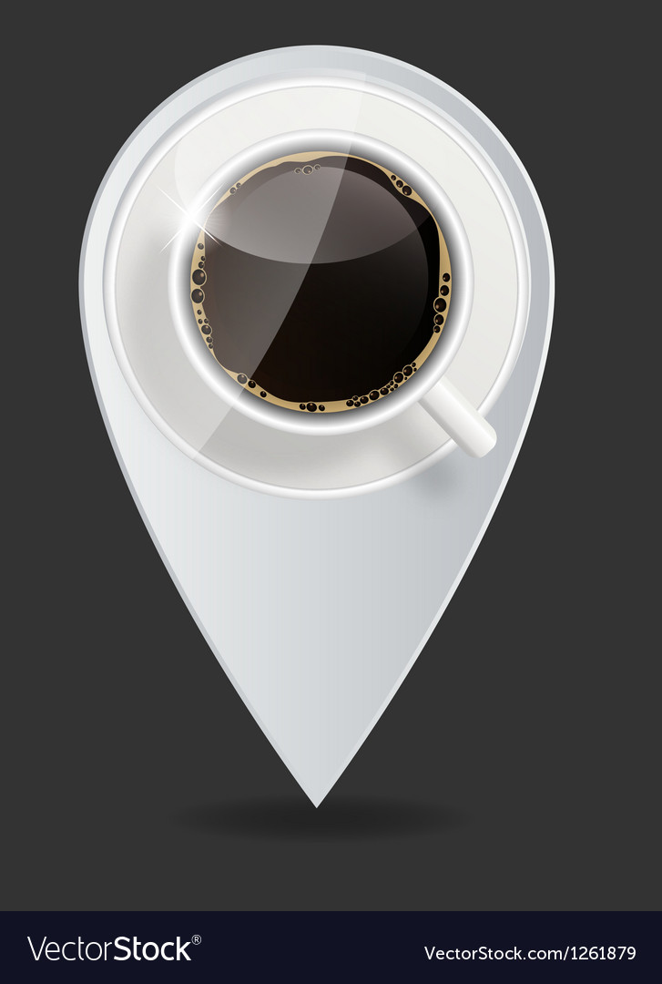 Coffee map pointer vector | Price: 1 Credit (USD $1)