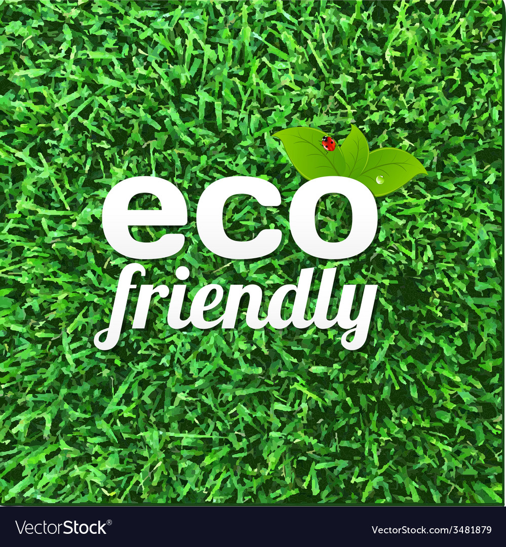 Eco friendly poster vector | Price: 1 Credit (USD $1)