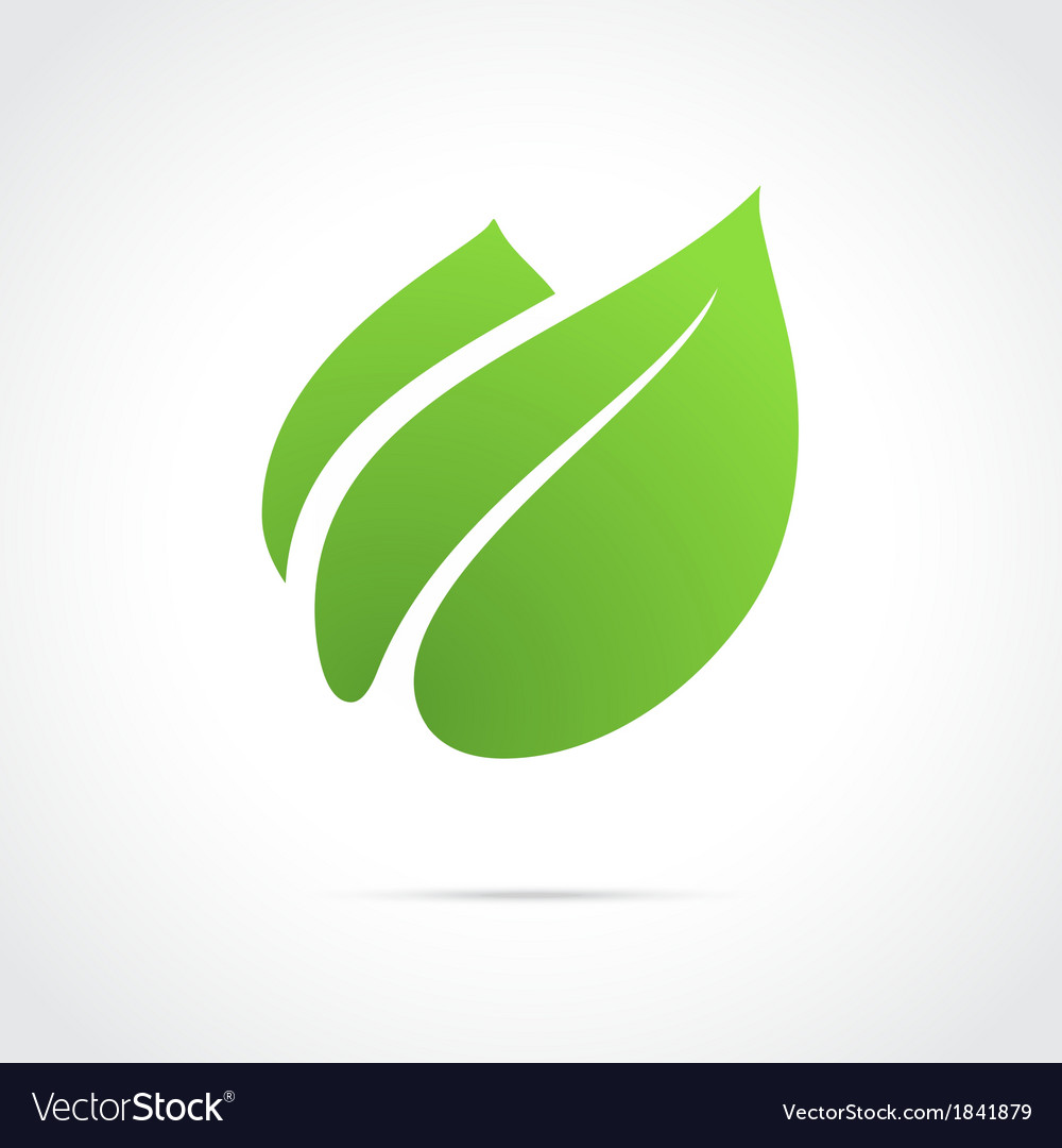 Eco icon green leaf vector | Price: 1 Credit (USD $1)