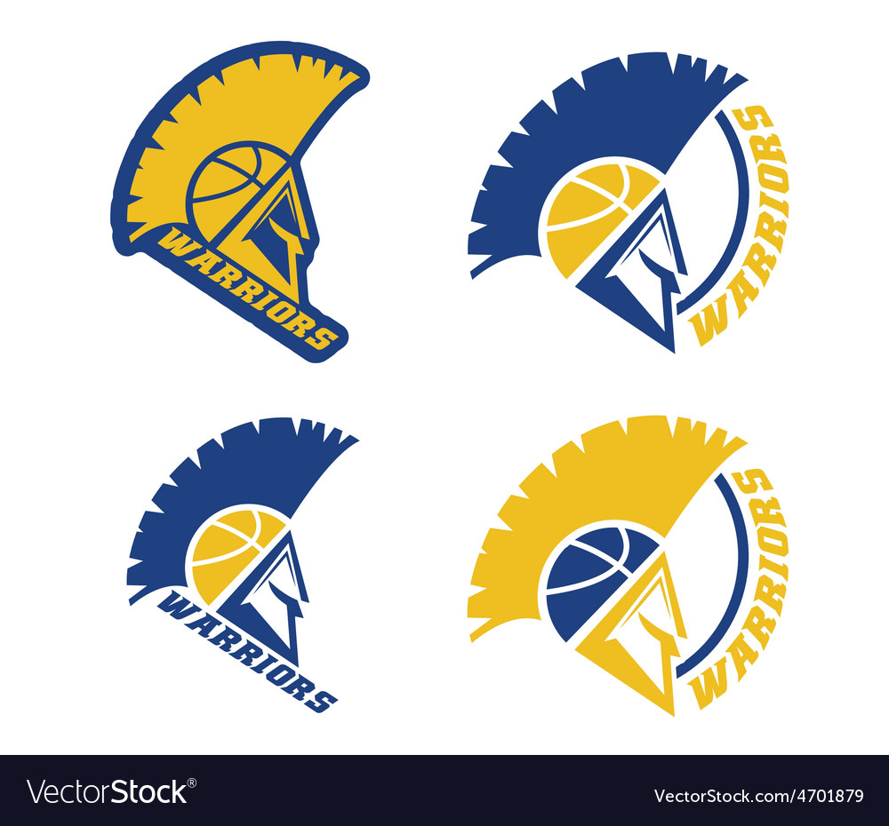 Emblems of basketball warriors team vector | Price: 1 Credit (USD $1)