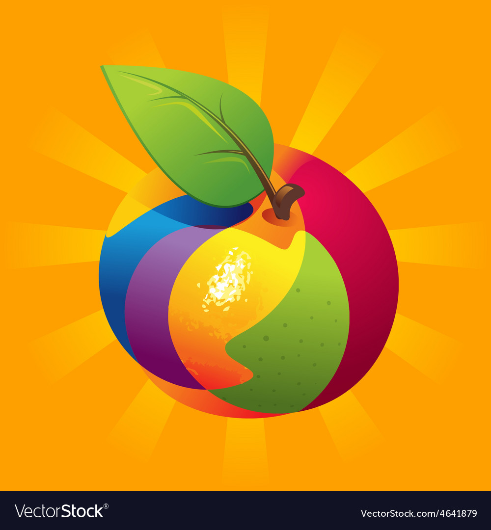Exotic fruit mix vector | Price: 1 Credit (USD $1)