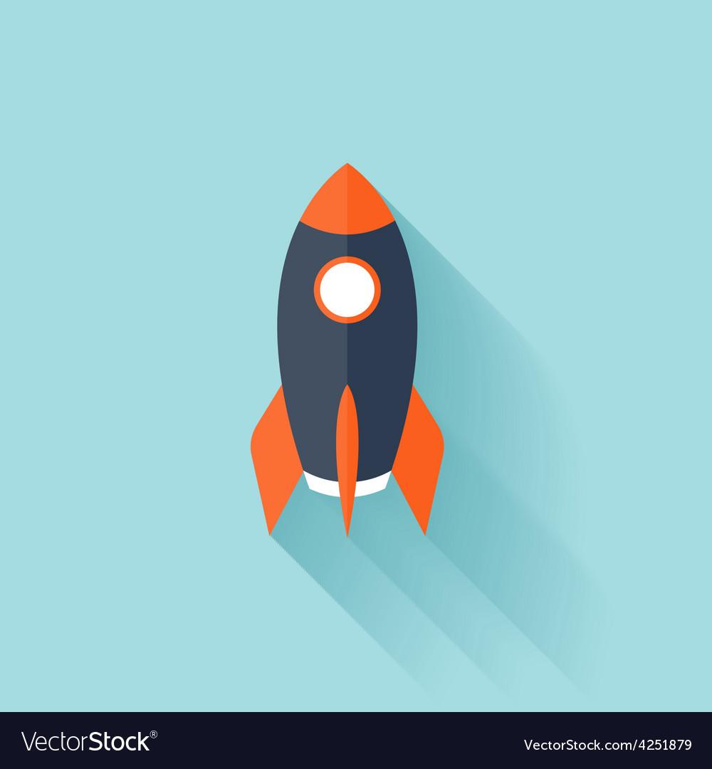 Flat rocket icon vector | Price: 1 Credit (USD $1)