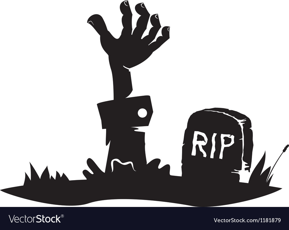 Hand reaching from the grave vector | Price: 1 Credit (USD $1)