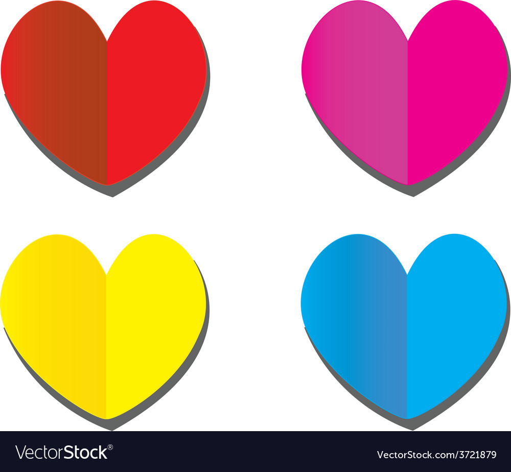 Heart paper vector | Price: 1 Credit (USD $1)
