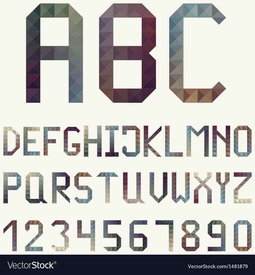 Latin alphabet made of geometric pattern vector | Price: 1 Credit (USD $1)