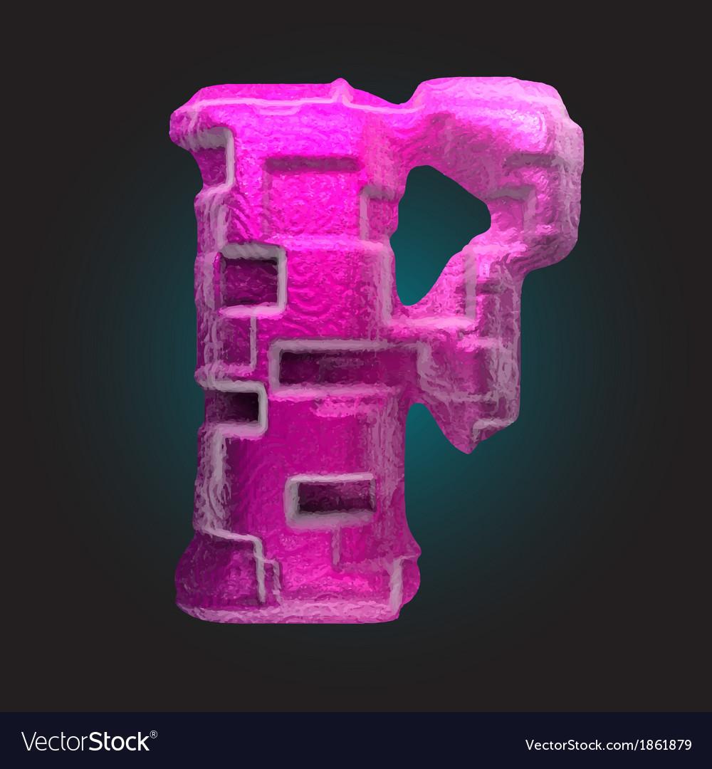 Pink plastic figure f vector | Price: 1 Credit (USD $1)