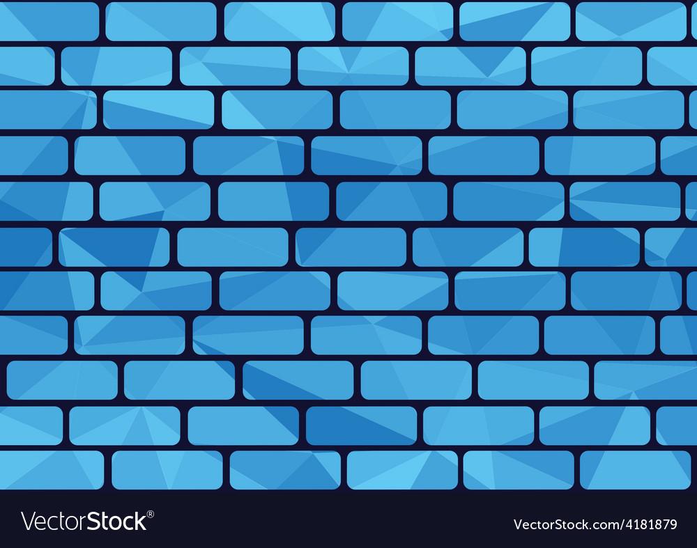Plygon brick blue vector | Price: 1 Credit (USD $1)