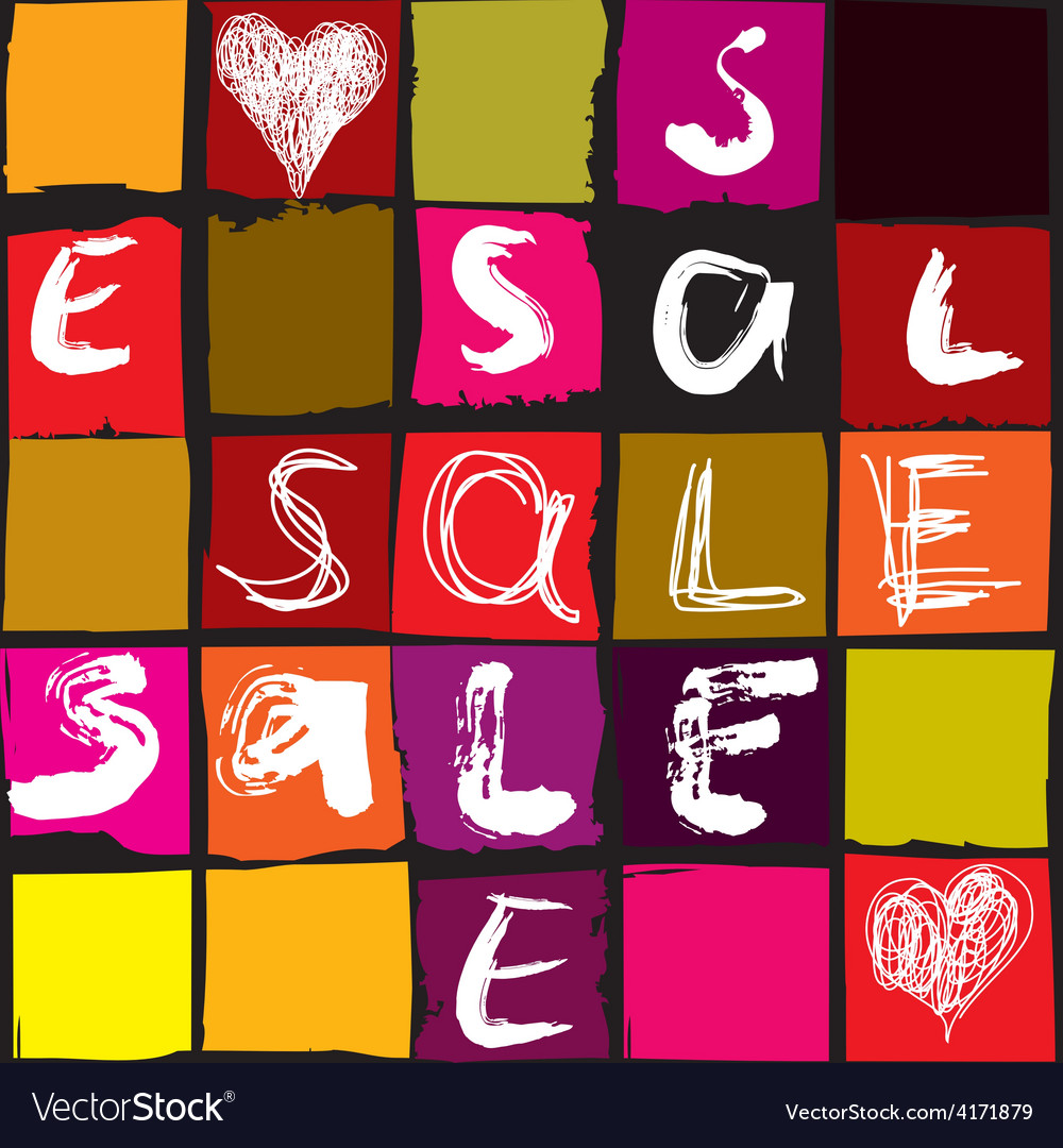 Sale typo background vector | Price: 1 Credit (USD $1)