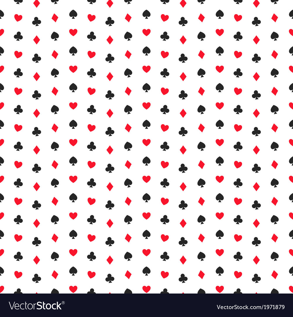 Seamless pattern of card suits endless background vector | Price: 1 Credit (USD $1)