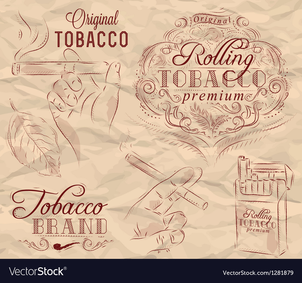 Tobacco brown vector | Price: 3 Credit (USD $3)