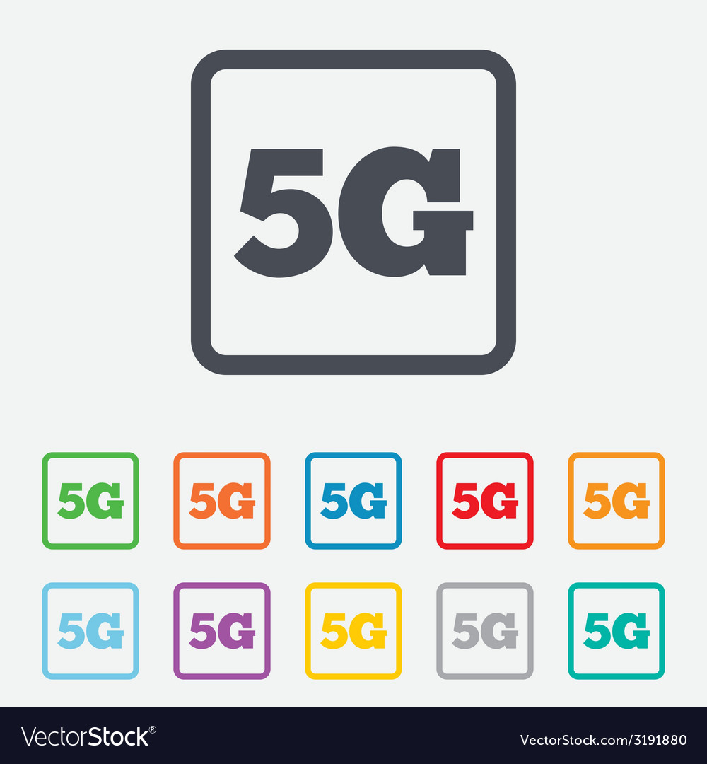 5g sign mobile telecommunications technology vector | Price: 1 Credit (USD $1)