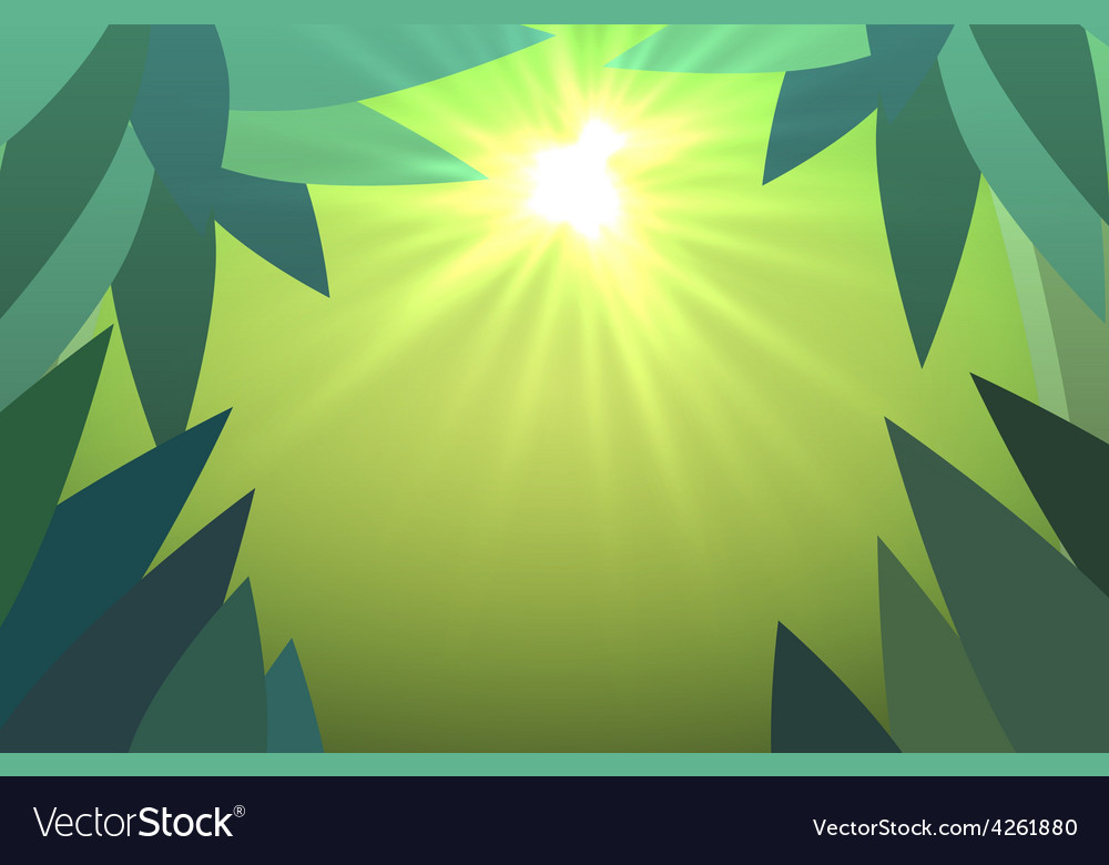 Abstract jungles background with sun rays vector | Price: 1 Credit (USD $1)