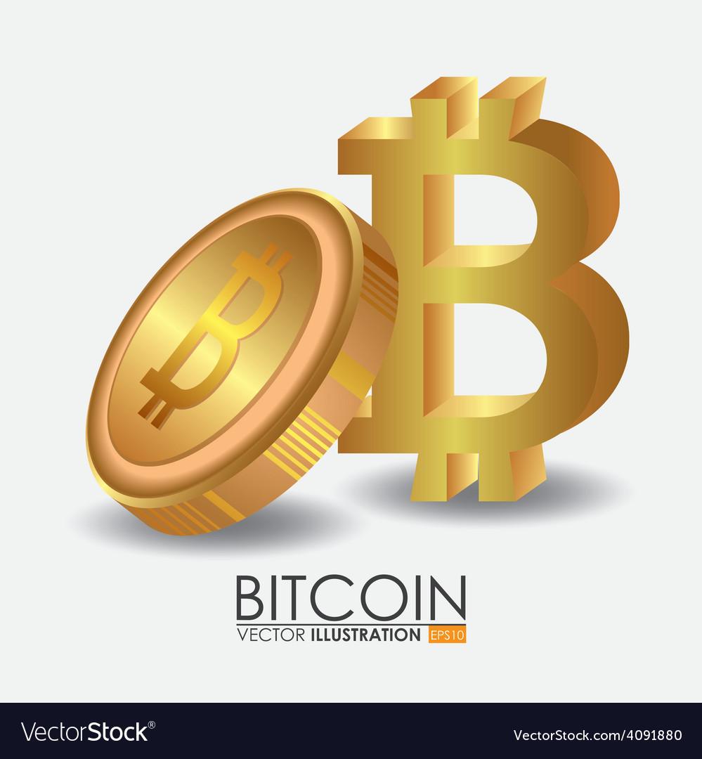 Bitcoin design vector | Price: 1 Credit (USD $1)