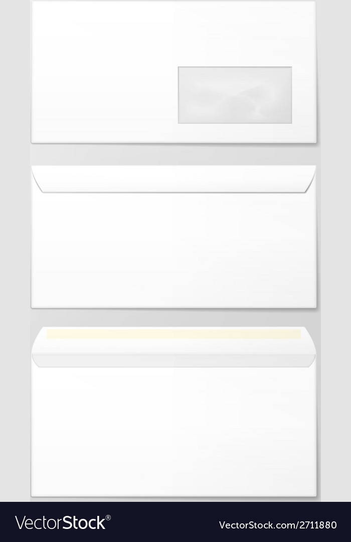 Blank envelopes vector | Price: 1 Credit (USD $1)
