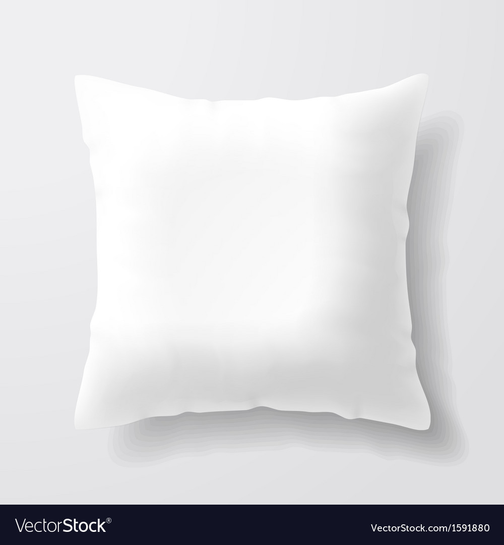 Blank white square pillow vector | Price: 1 Credit (USD $1)