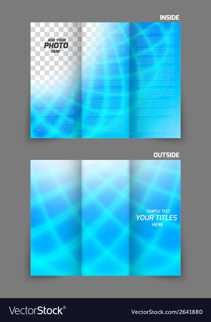 Bright tri fold brochure vector | Price: 1 Credit (USD $1)