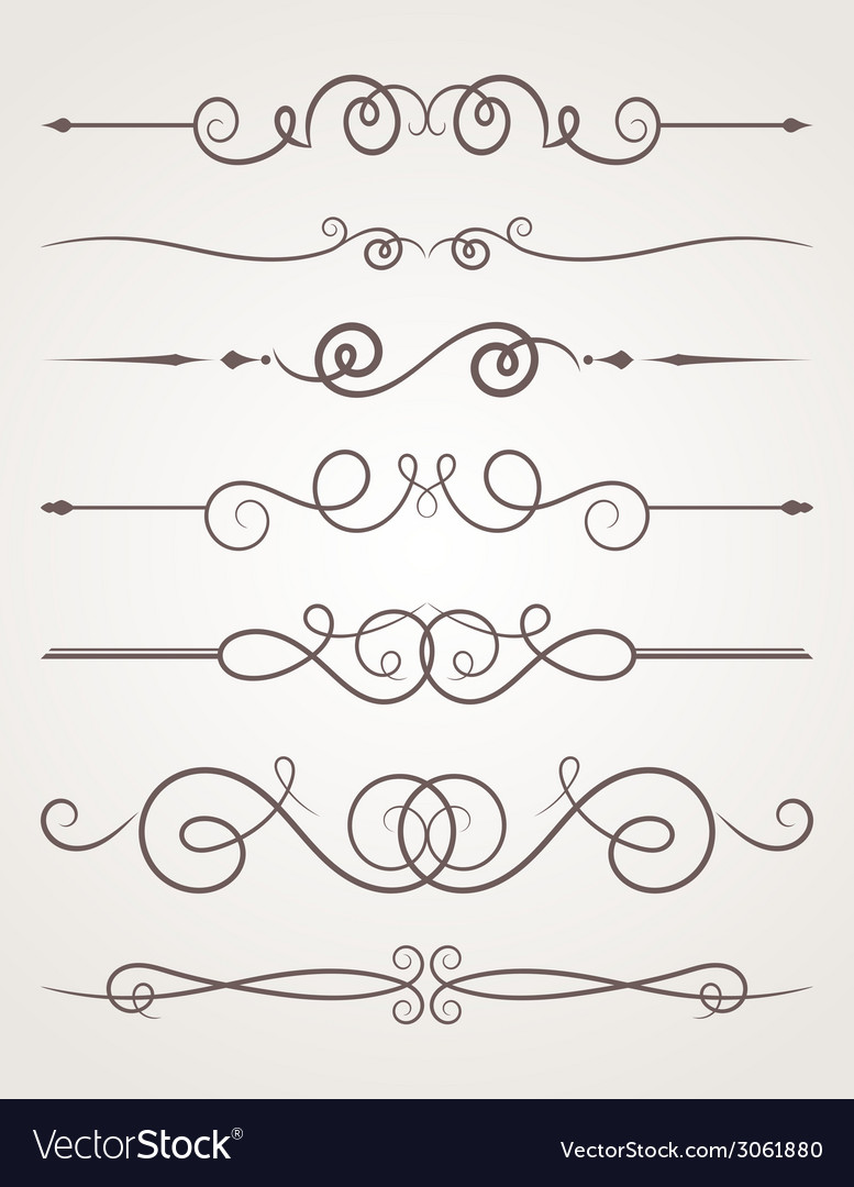 Calligraphic decorative elements vector | Price: 1 Credit (USD $1)
