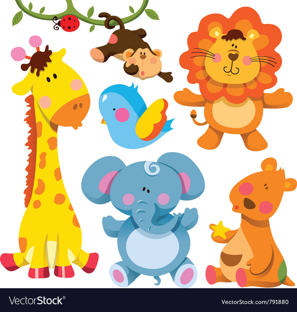 Cute animals collection vector | Price: 5 Credit (USD $5)