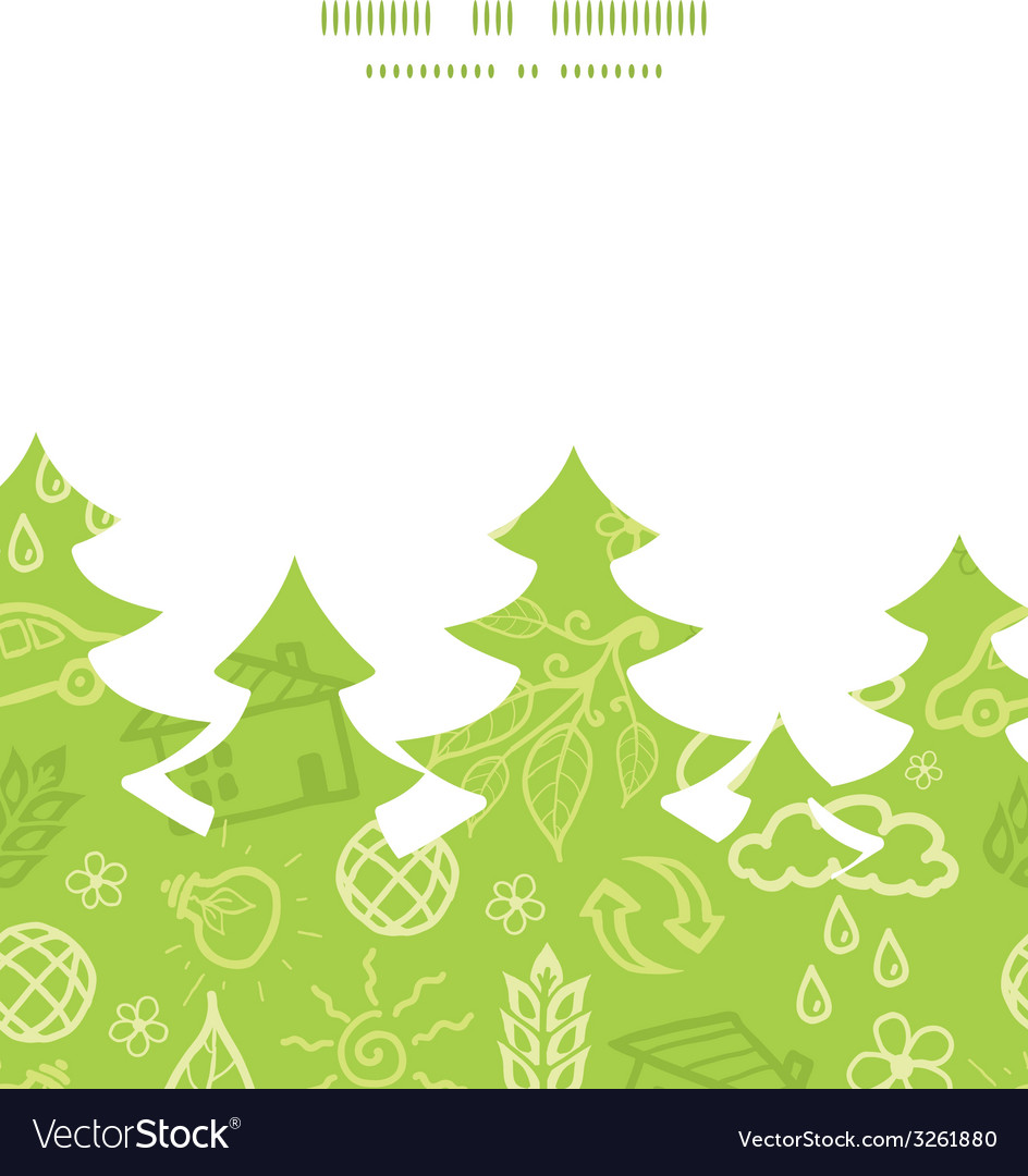 Environmental christmas tree silhouette pattern vector | Price: 1 Credit (USD $1)
