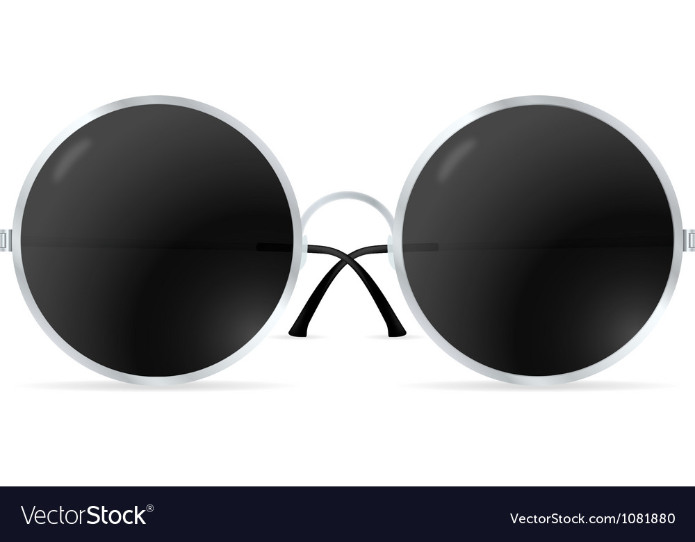 Glasses with round lenses vector | Price: 1 Credit (USD $1)