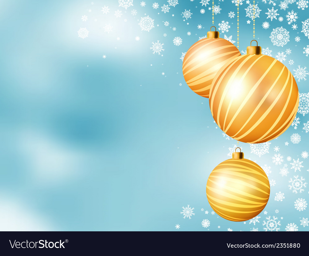 Light blue christmas backdrop with balls eps 8 vector | Price: 1 Credit (USD $1)