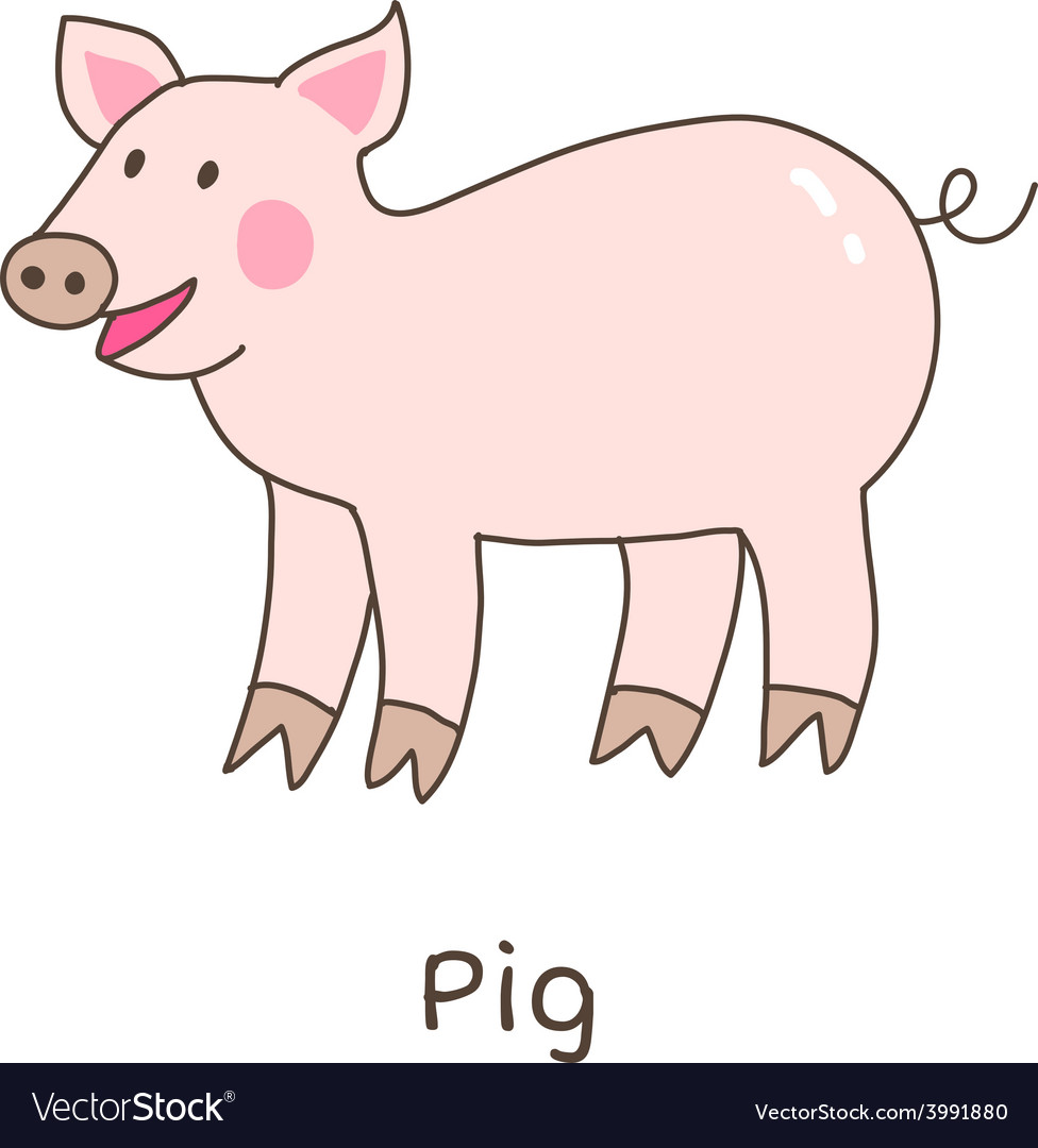 Lineart pig vector | Price: 1 Credit (USD $1)
