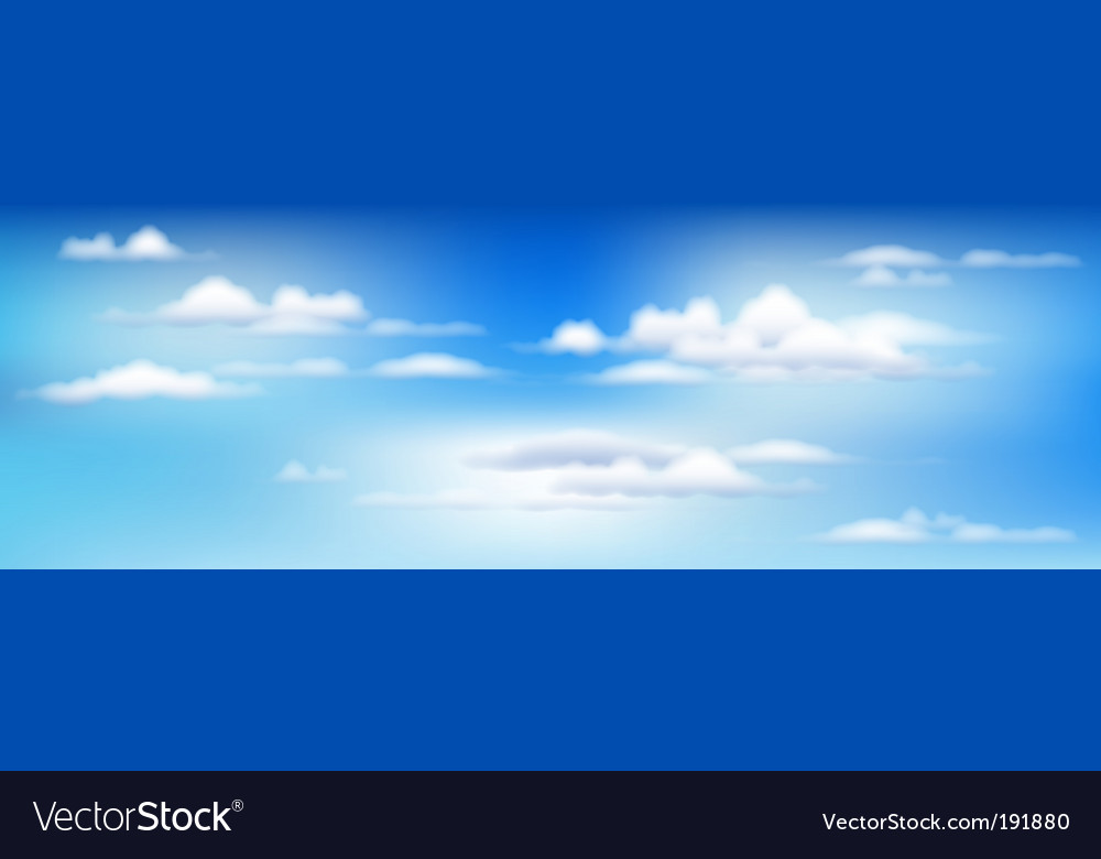 Sky and clouds vector | Price: 1 Credit (USD $1)
