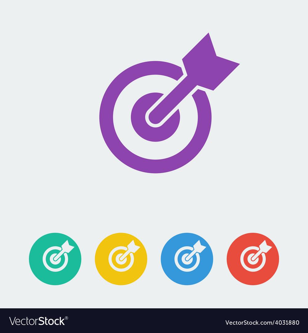 Target flat circle icon vector | Price: 1 Credit (USD $1)