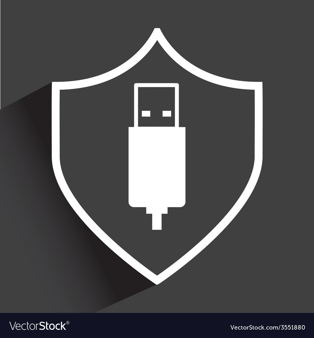 Usb security vector | Price: 1 Credit (USD $1)