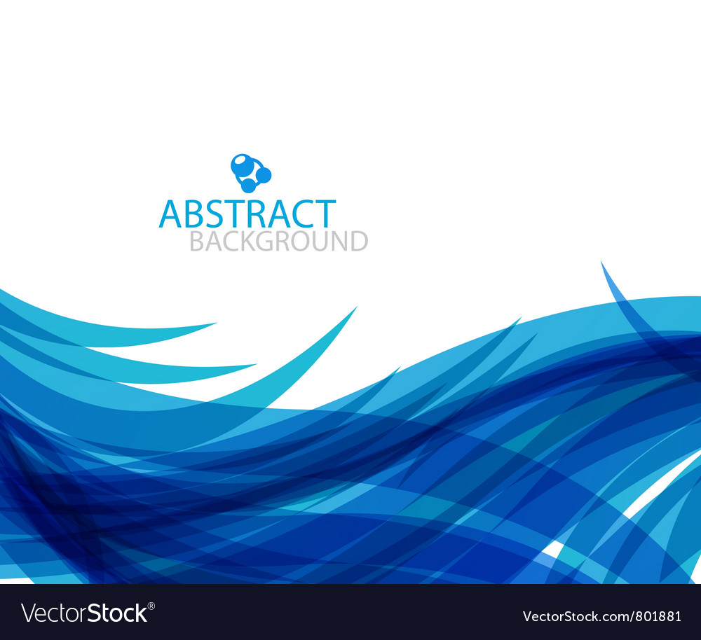 Abstract blue wave vector | Price: 1 Credit (USD $1)