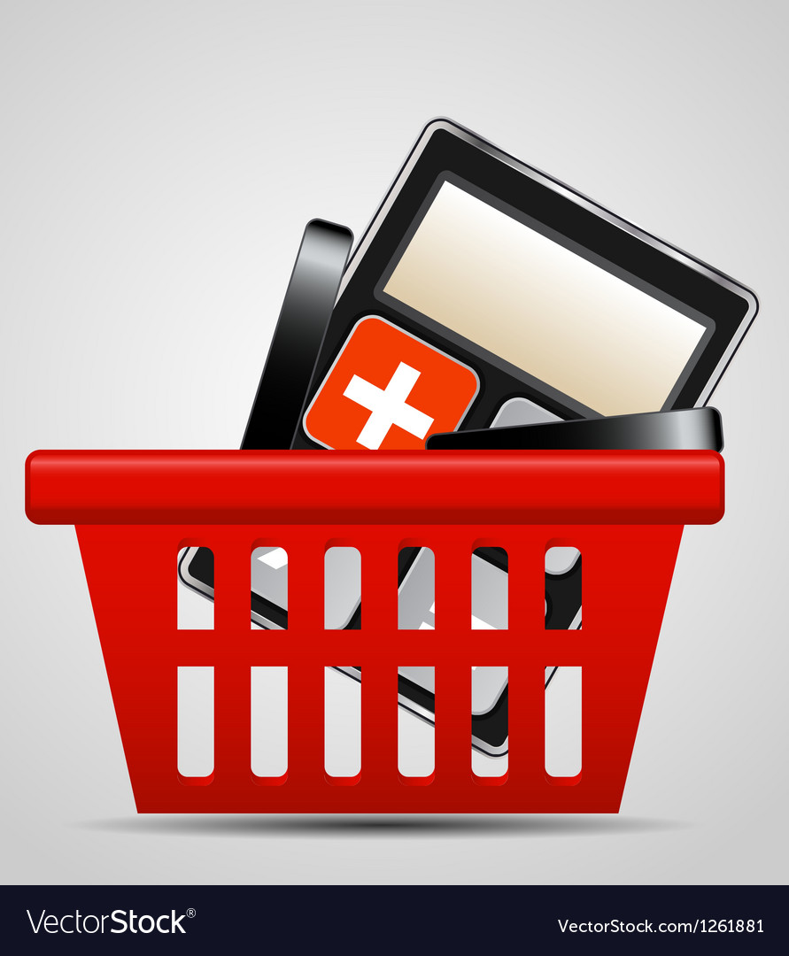 Calculator and shopping basket vector   Price: 3 Credit (USD $3)