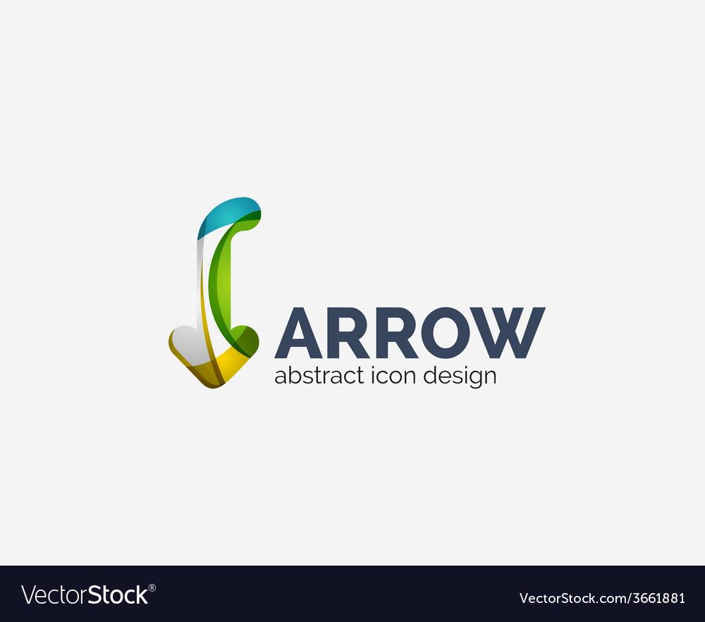 Clean moden wave design arrow logo vector | Price: 1 Credit (USD $1)