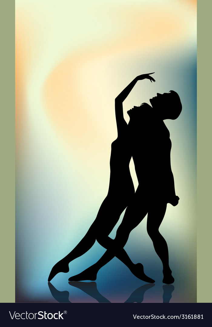 Couple ballet dancers vector | Price: 1 Credit (USD $1)
