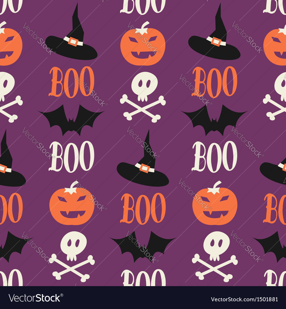 Cute halloween seamless pattern vector | Price: 1 Credit (USD $1)